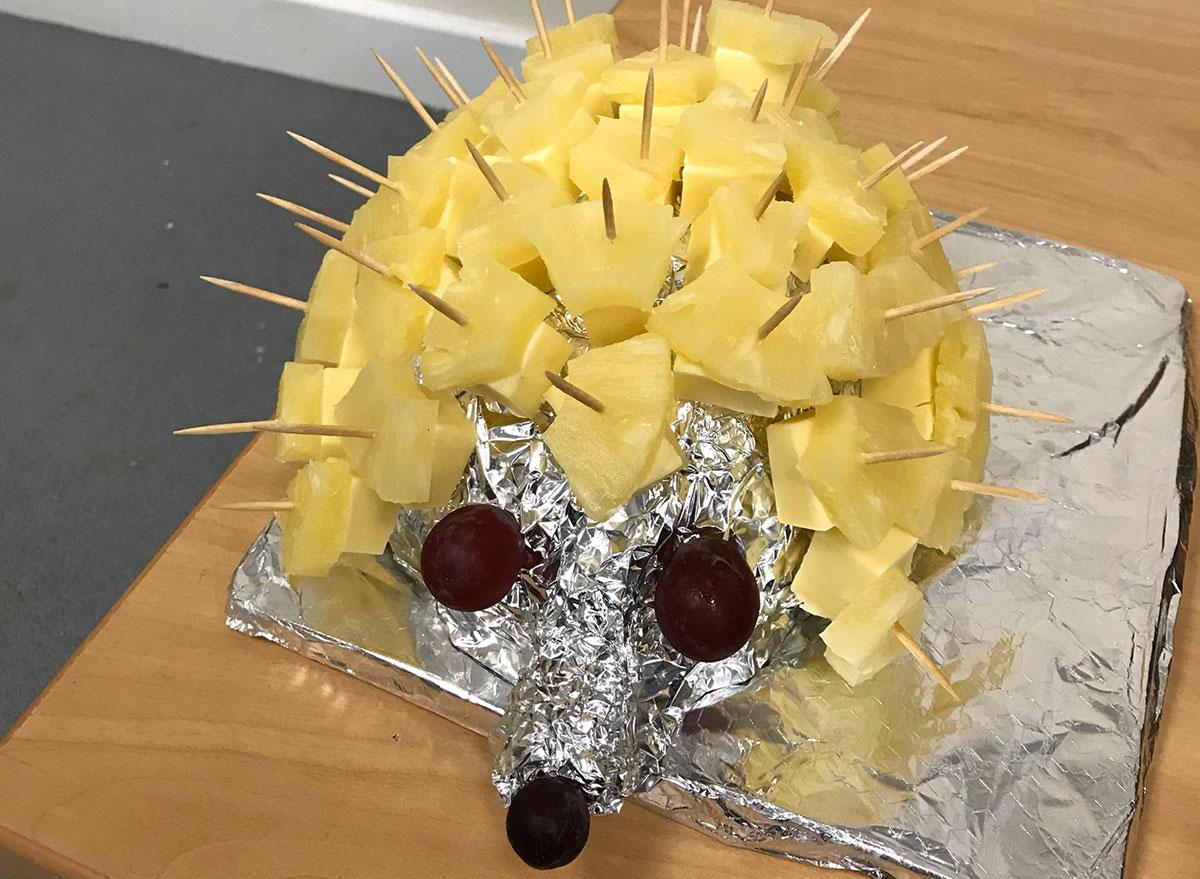 pineapple cheese hedgehog