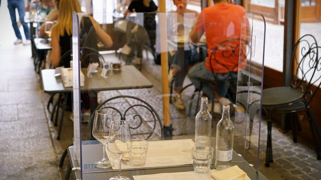 plexiglass dining