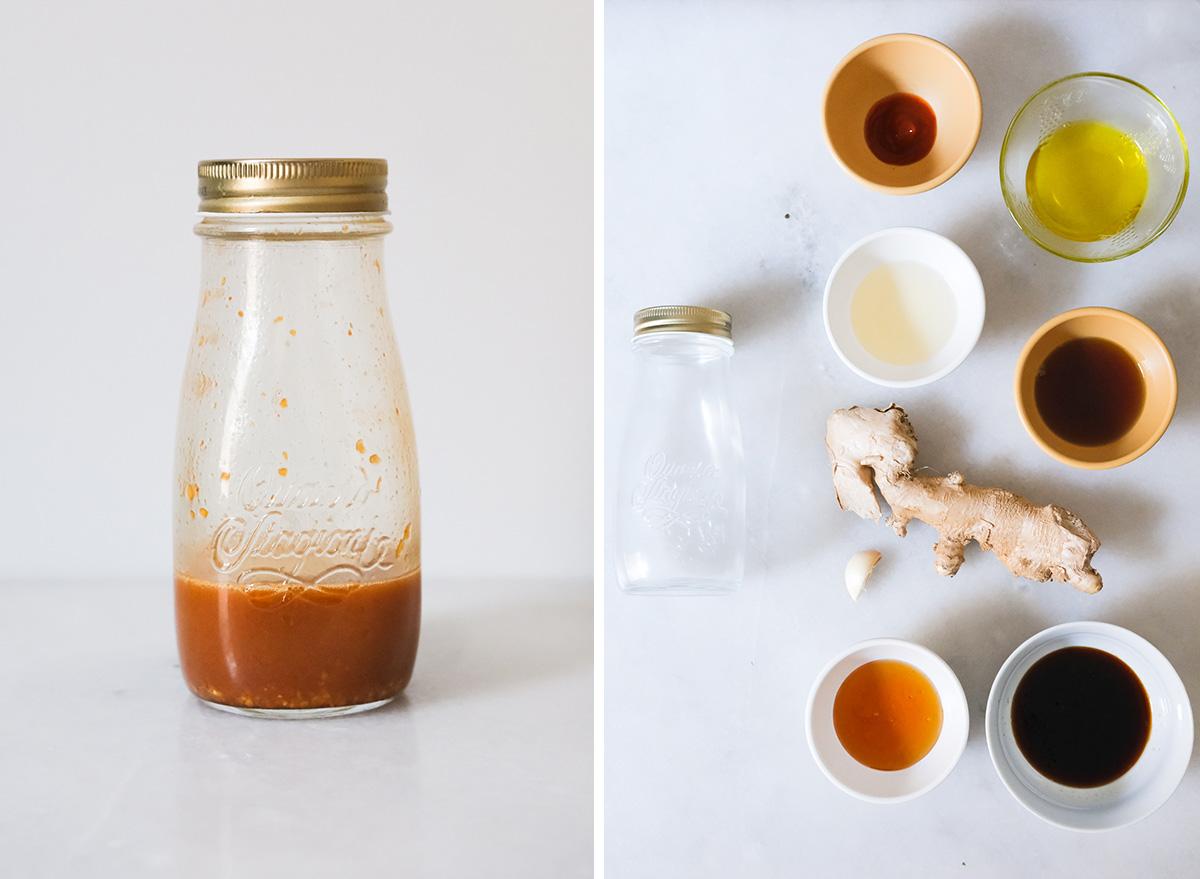 sesame ginger vinaigrette with ingredients