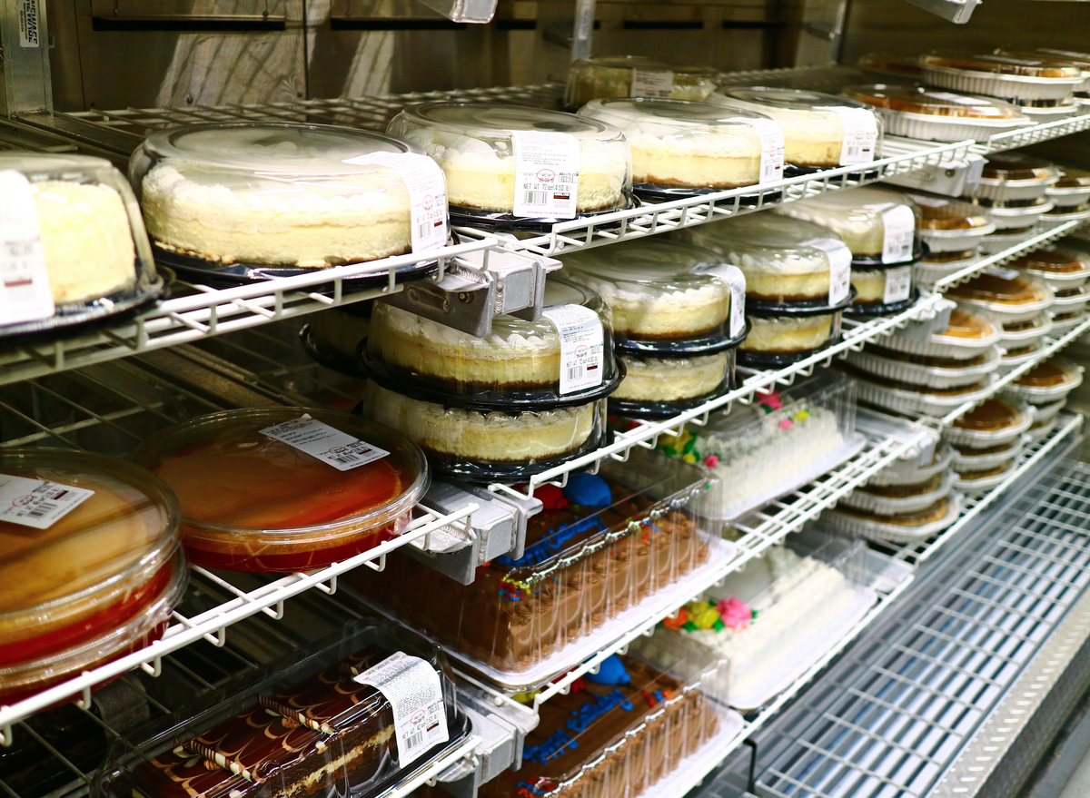 Various cakes for sale at Costco Wholesale.