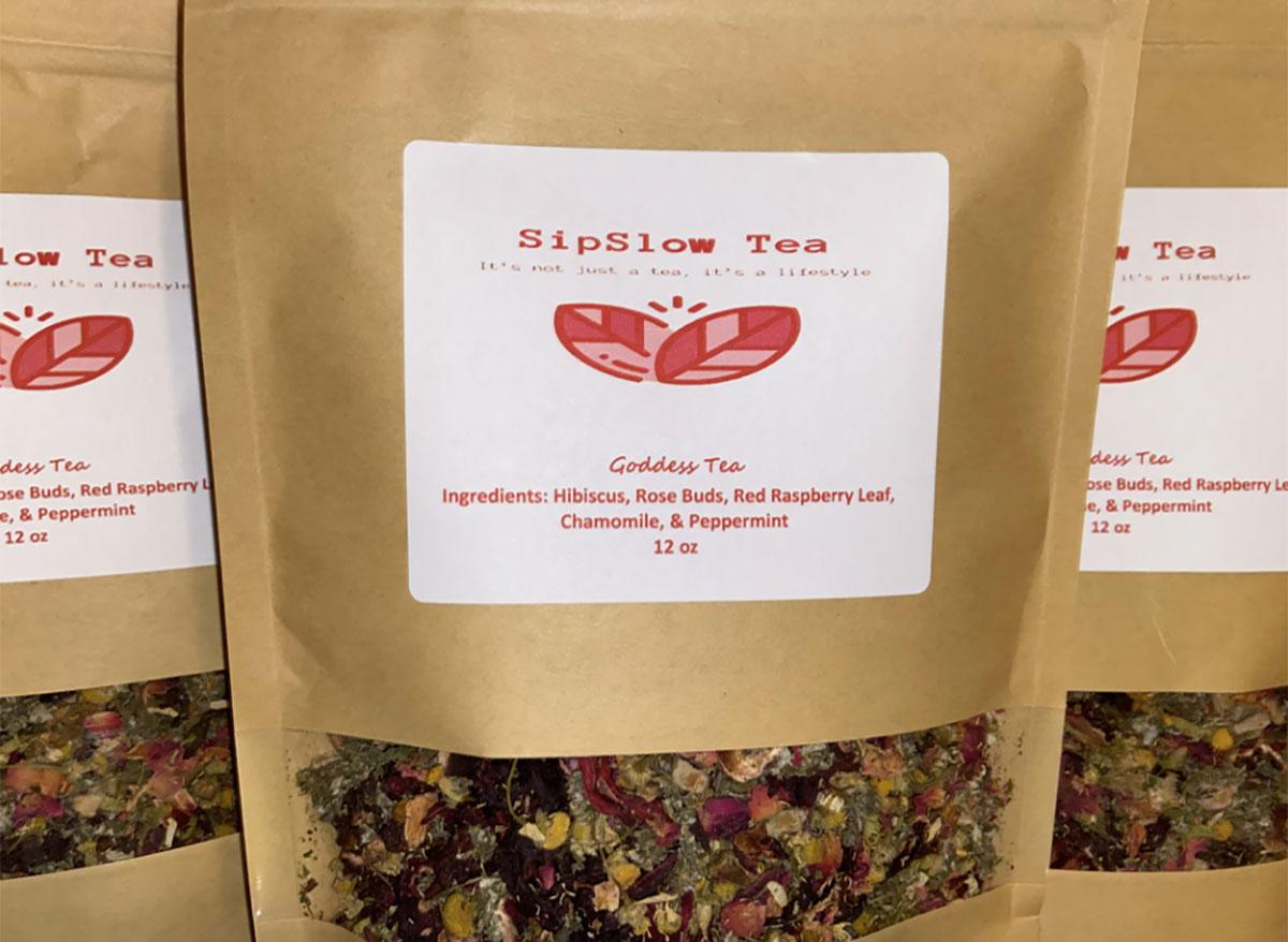 bags of sipslow goddess tea