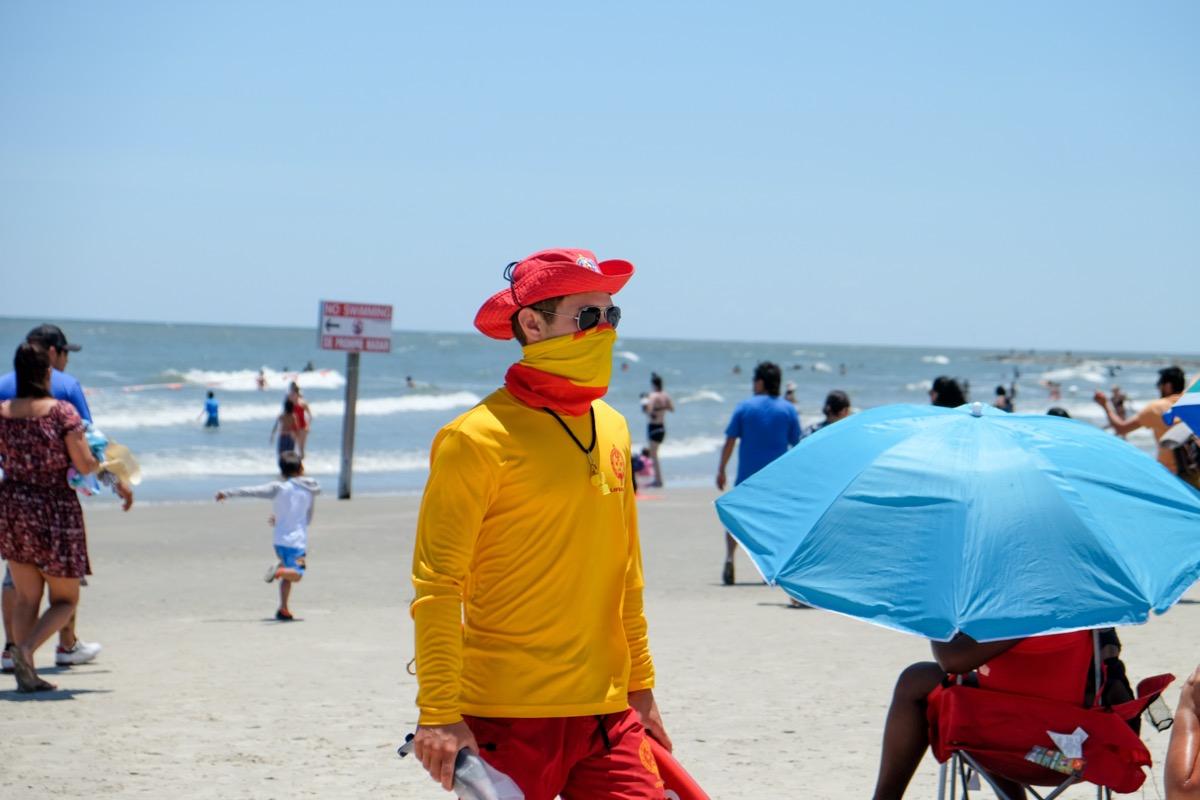 Lifeguards keep people safe and keep the peace during coronavirus pandemic on Galveston beaches