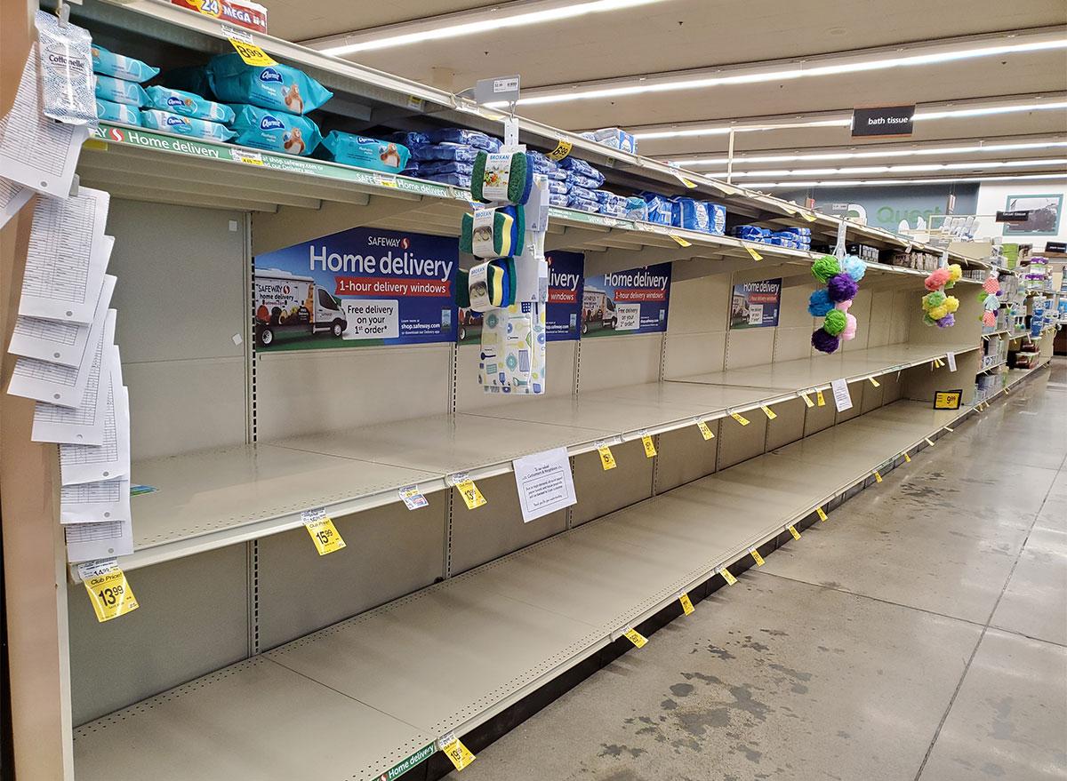 empty walmart aisle
