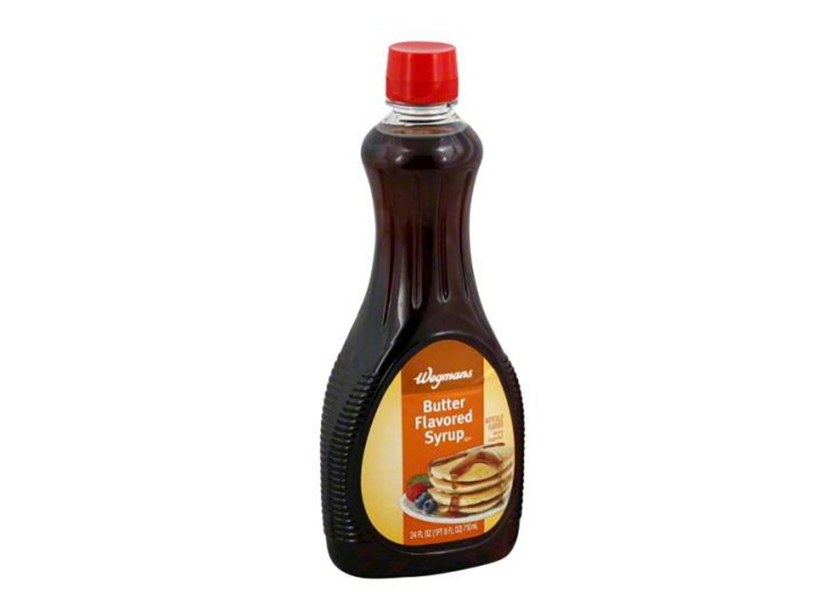 bottle of wegmans butter flavored syrup