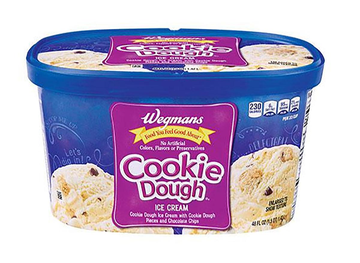 carton of wegmans cookie dough ice cream