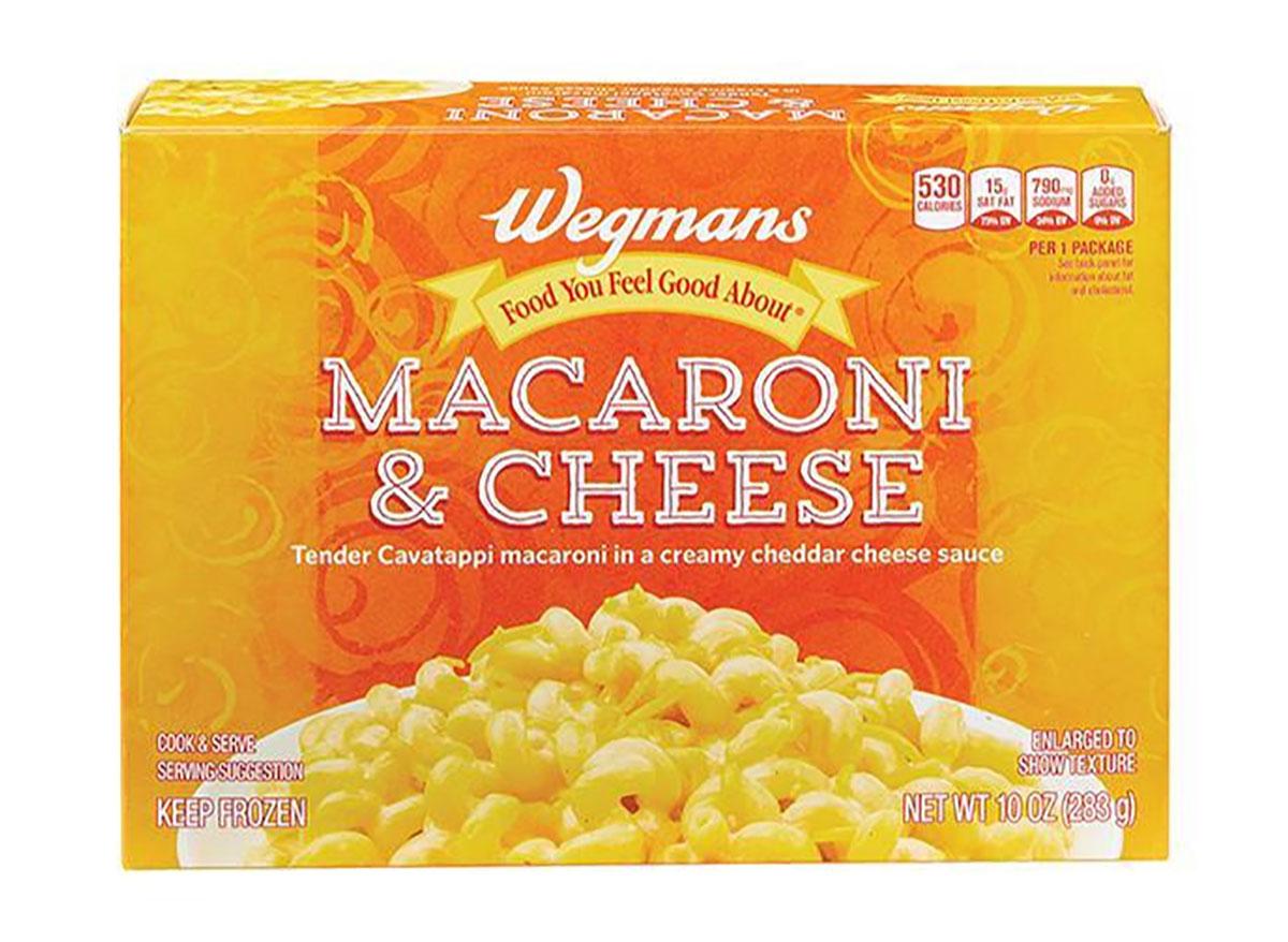 wegmans frozen mac and cheese box