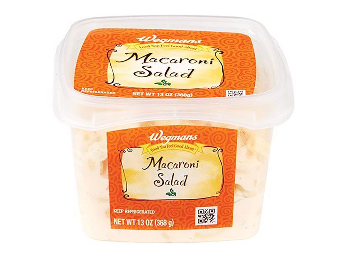 carton of wegmans macaroni salad