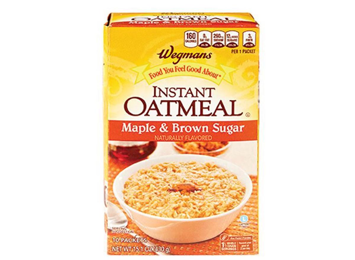 box of wegmans instant oatmeal packets