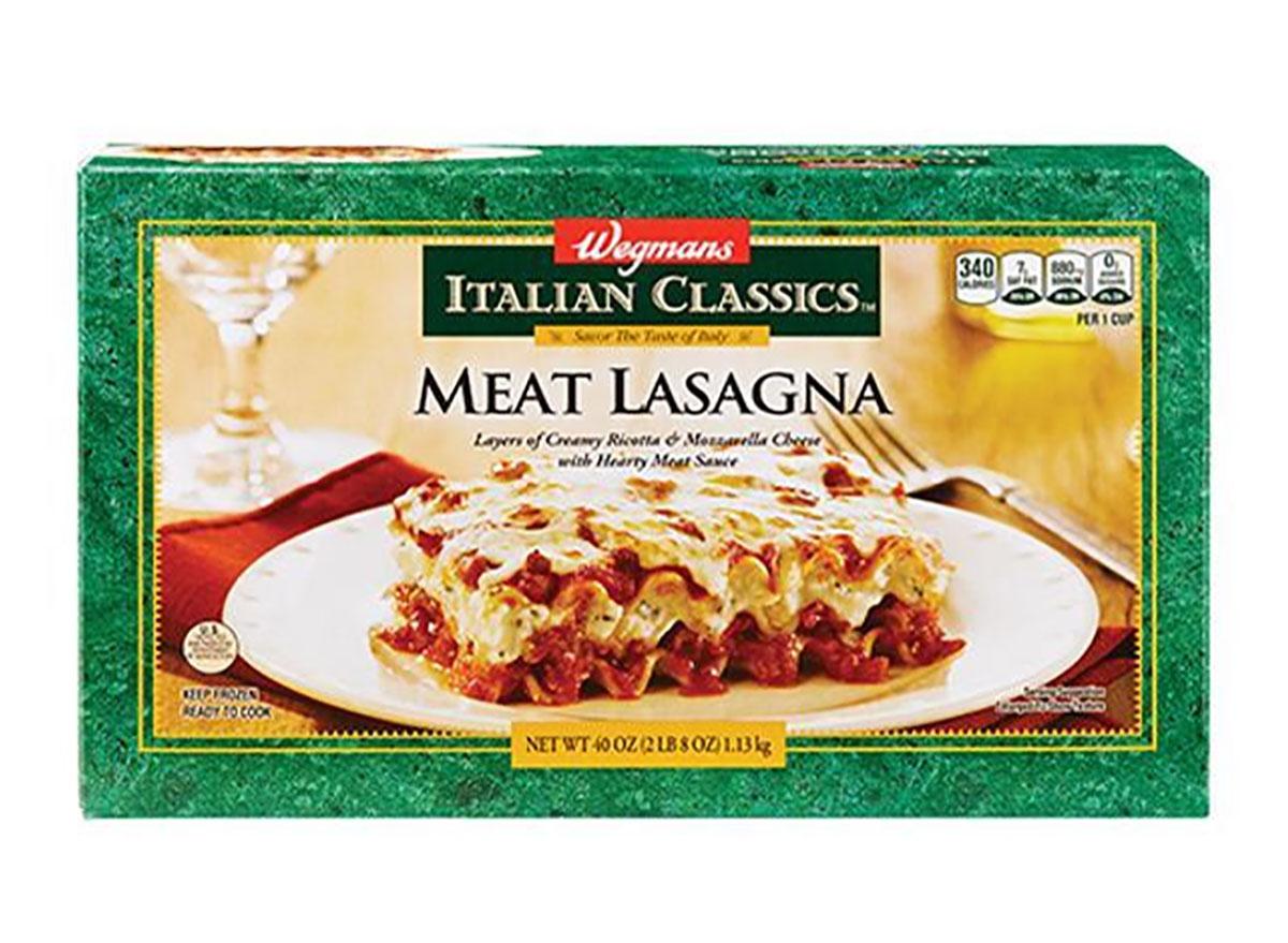 wegmans frozen meat lasagna