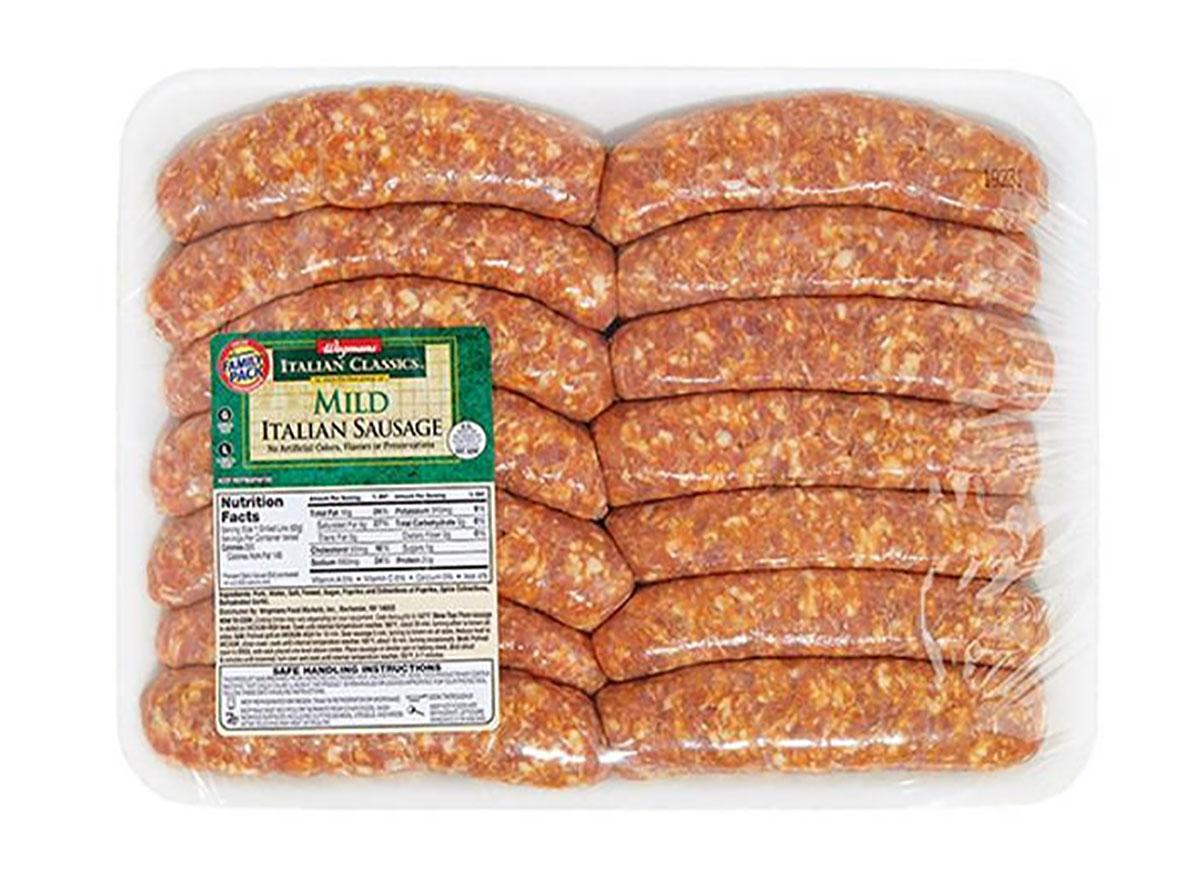 wegmans mild italian sausage