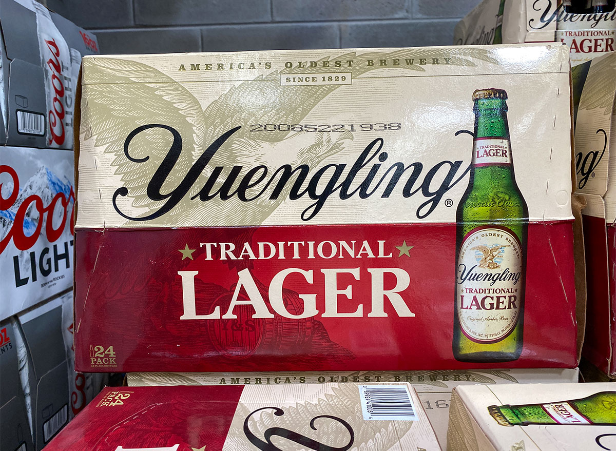 case of yuengling beer