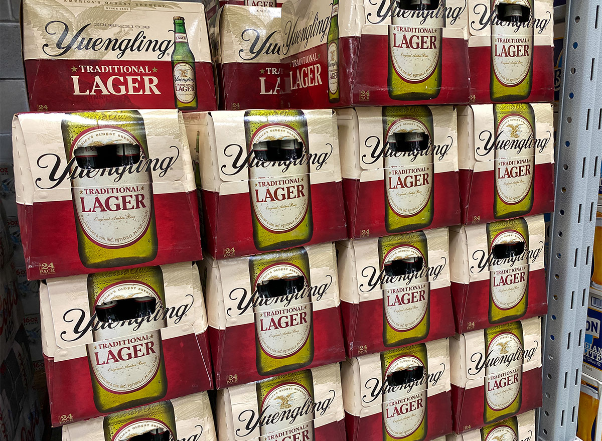 cases of yuengling beer