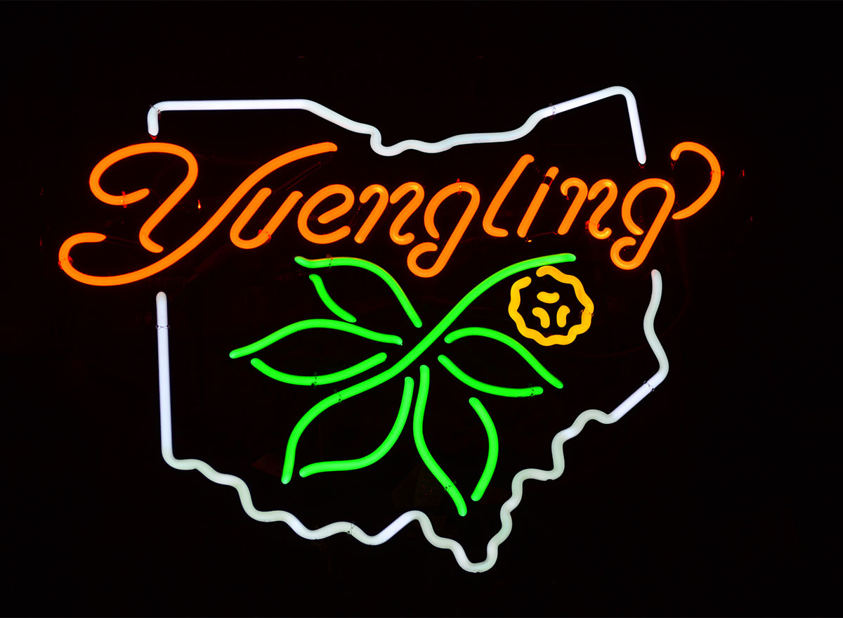 sign for yuengling beer