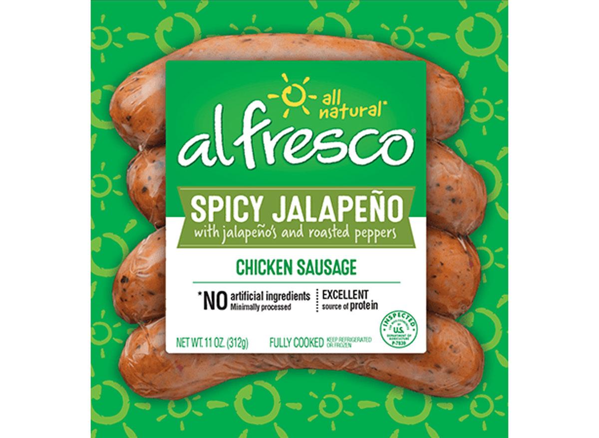 al fresco spicy jalapeno chicken sausage