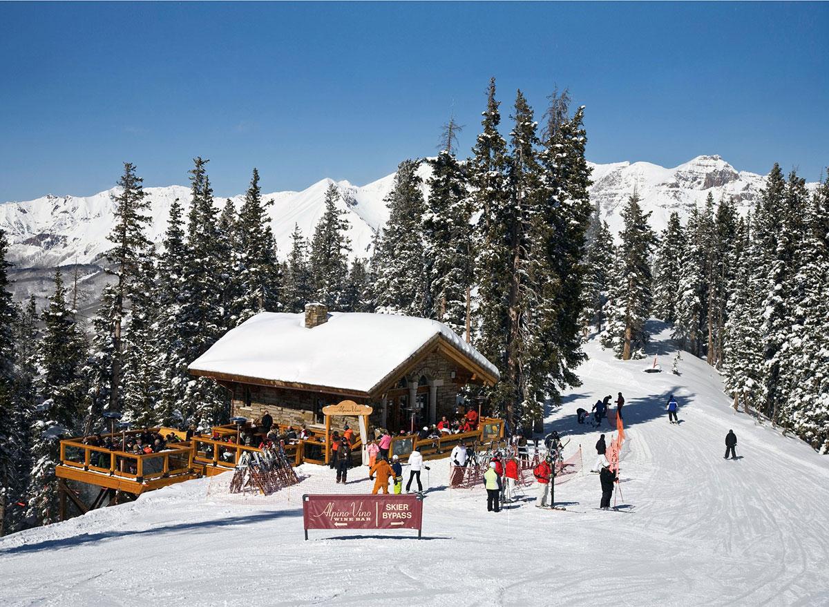 alpino vino restaurant in colorado mountains