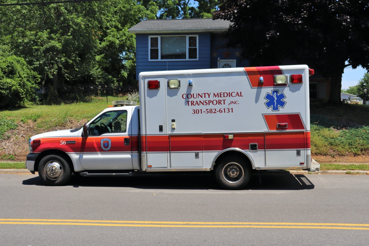 Ambulance vehicle parked on a street