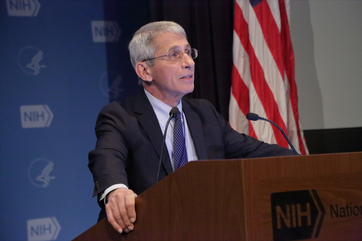 Anthony S. Fauci, M.D., Director, National Institute of Allergy and Infectious Diseases (NIAID), National Institutes of Health (NIH)