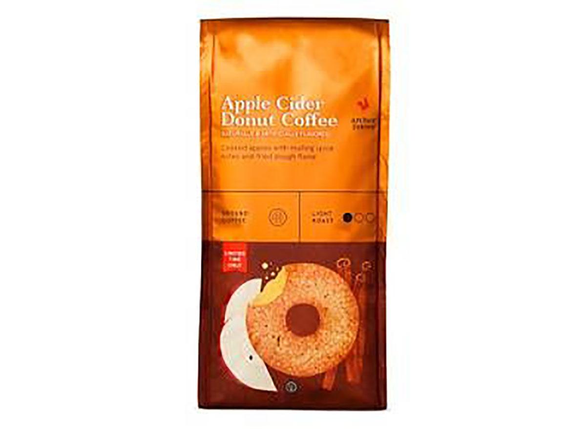 bag of archer farms apple cider donut ground coffee