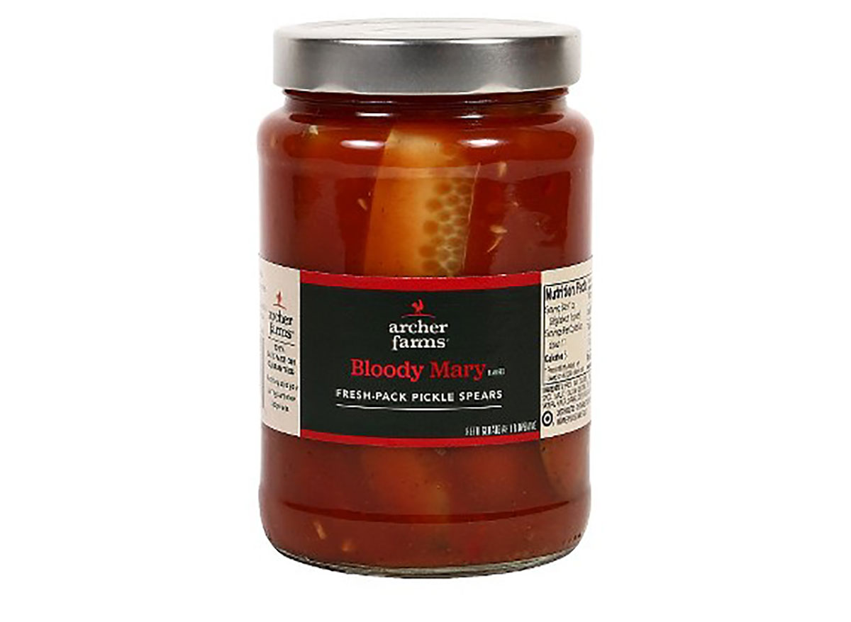 jar of archer farms bloody mary pickles