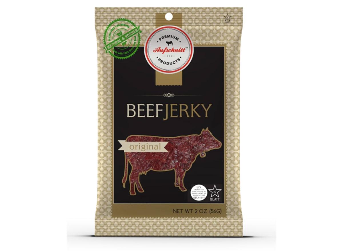 bag of aufschnitt beef jerky