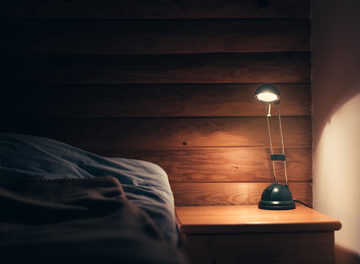 bedroom light on