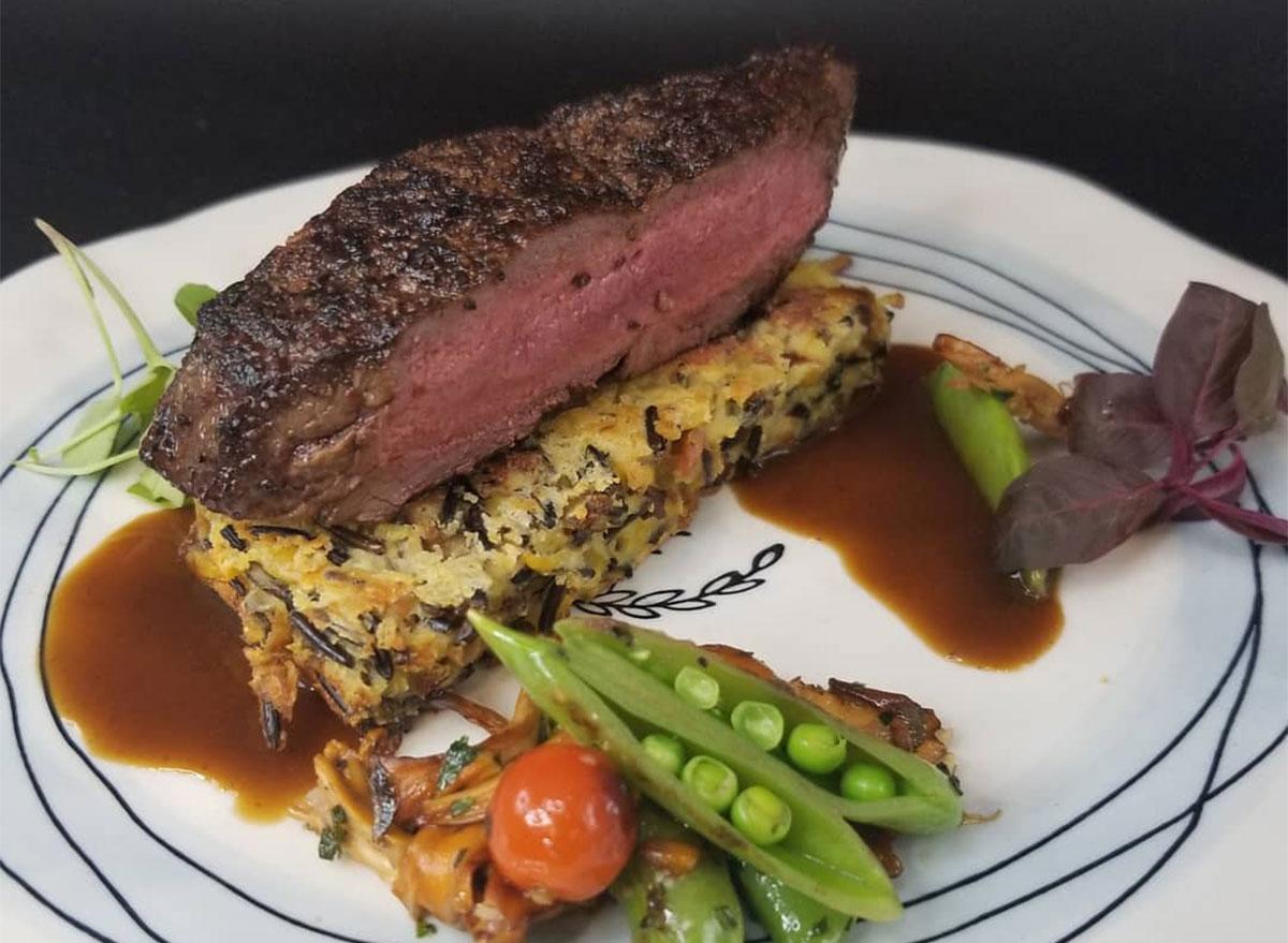 steak from brave new restaurant in arkansas