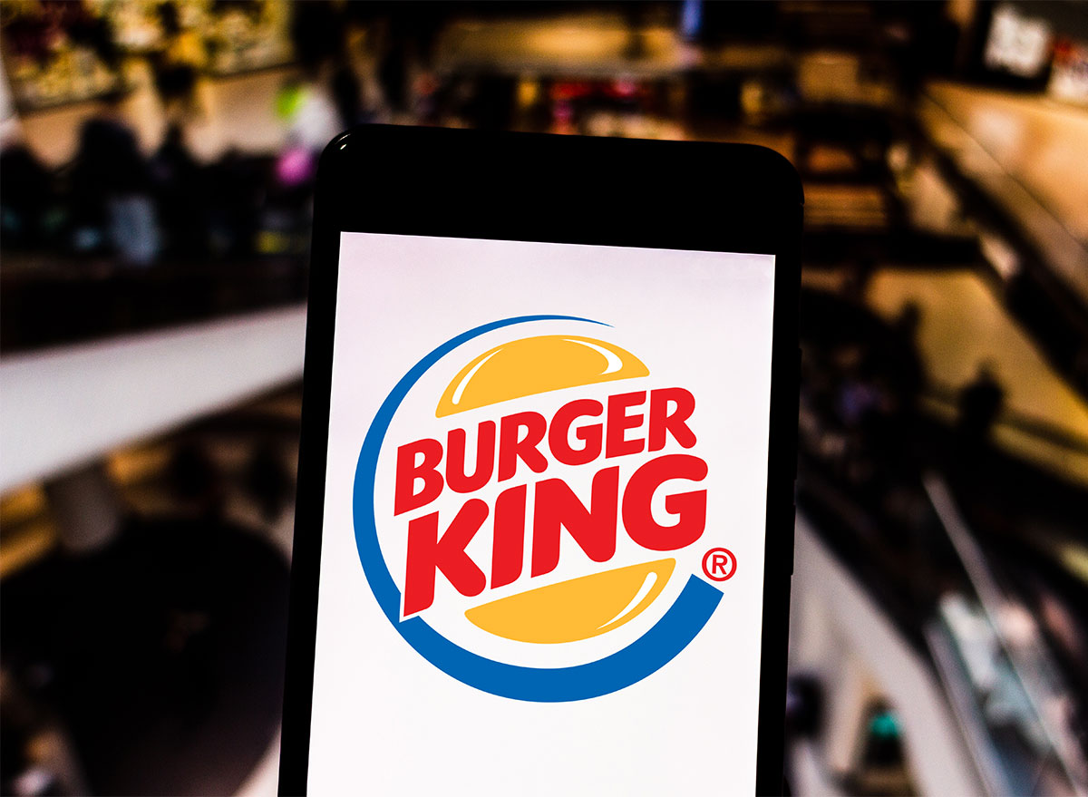 burger king logo on smartphone app