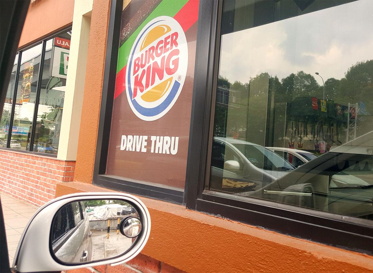drive thru window at burger king
