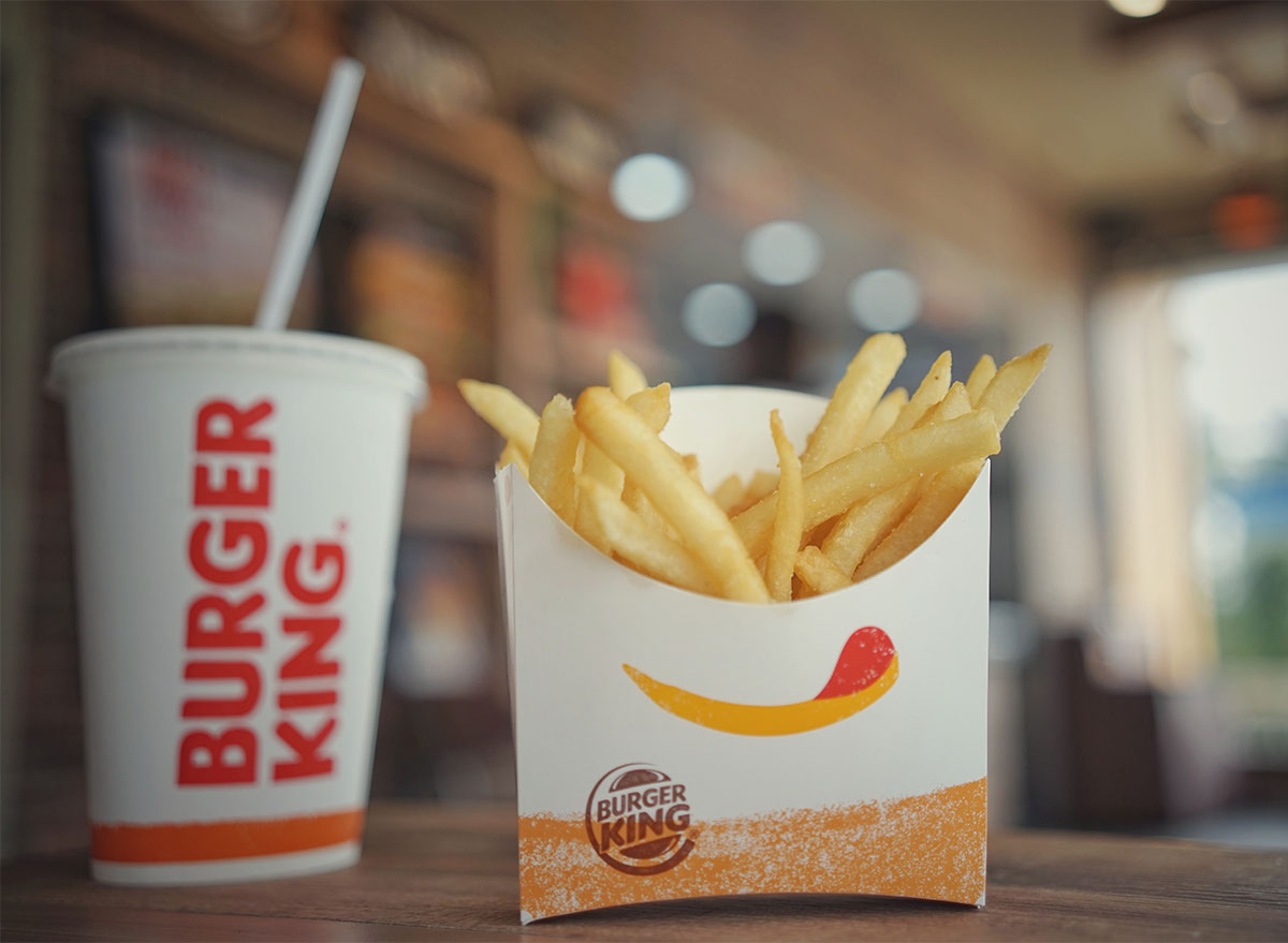 burger king fries and drink