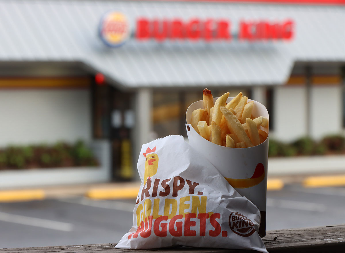 fries and nuggets outside burger king location