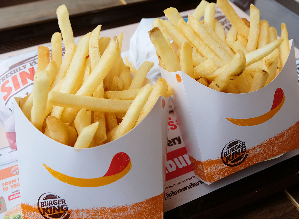 two orders of burger king fries