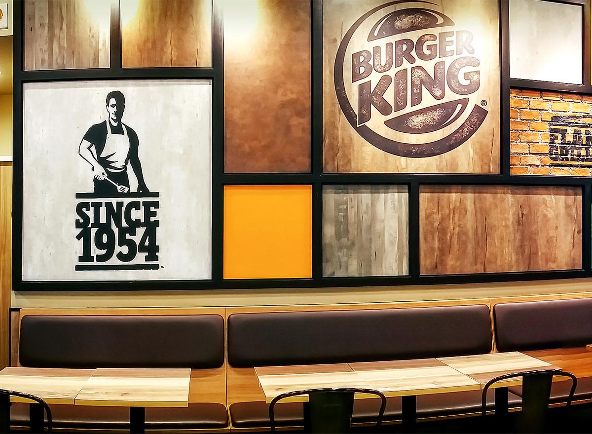 inside of burger king restaurant