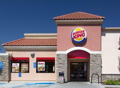 exterior of burger king restaurant
