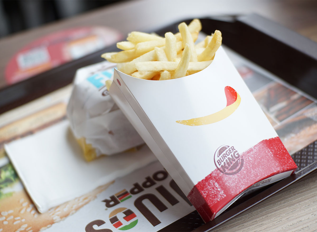burger king fries and sandwich on tray