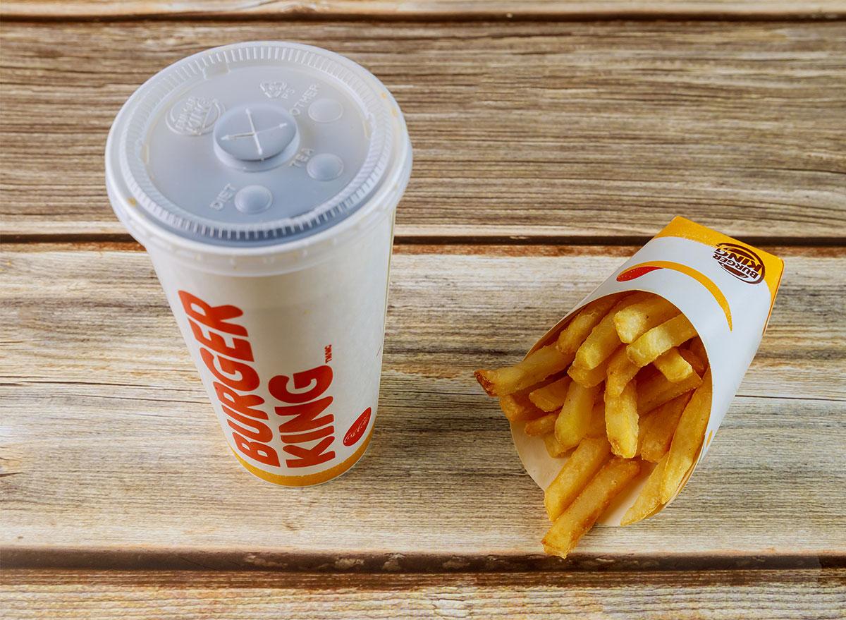 burger king soda and fries