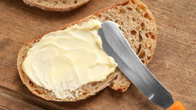 buttering bread