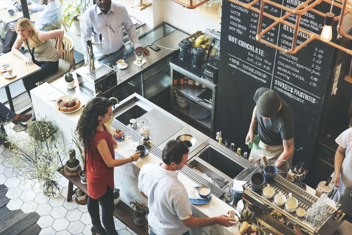Coffee Shop Bar Counter