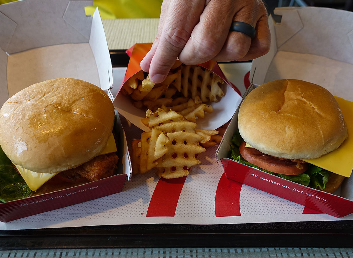chick fil a sandwiches and fries