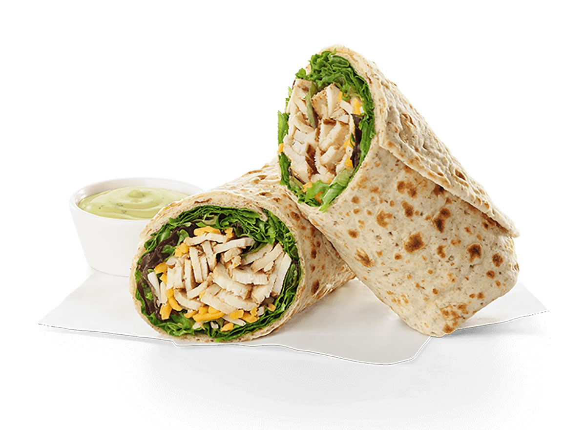 chick-fil-a grilled cool wrap with sauce