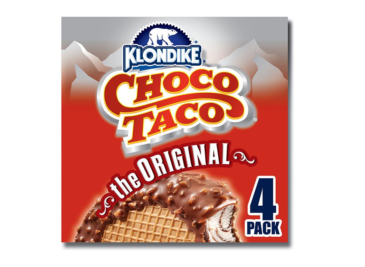 box of choco taco klondike ice creams