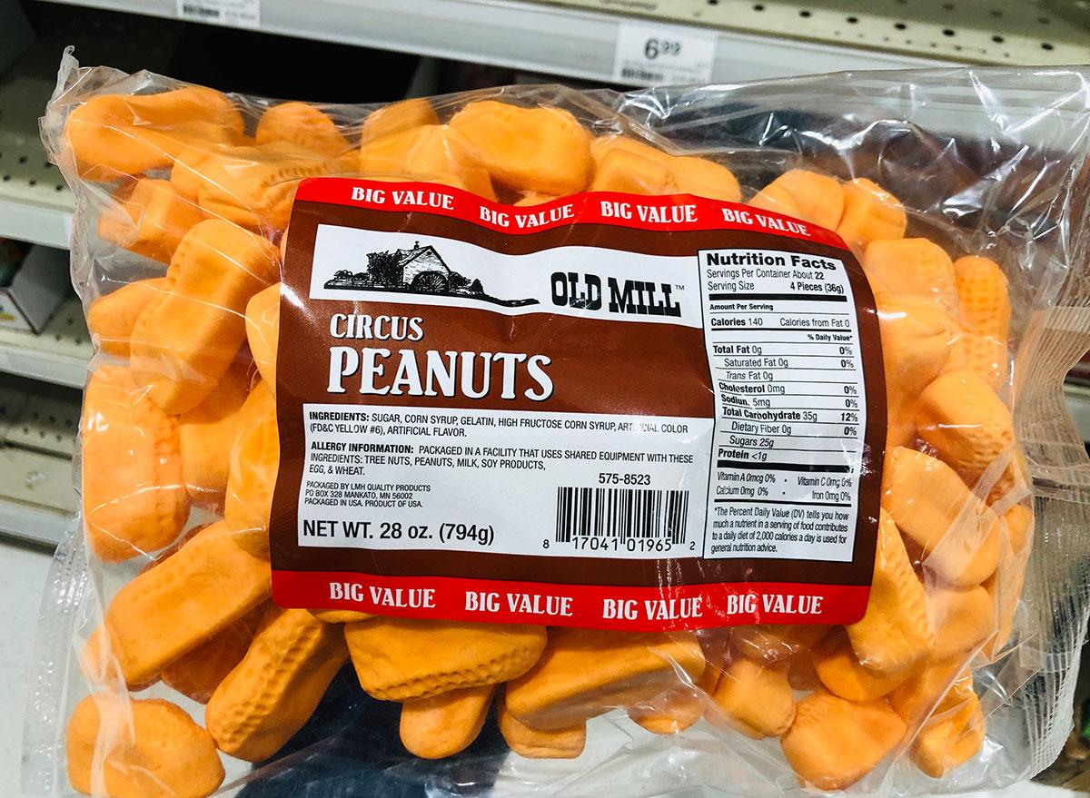 bag of circus peanuts snack