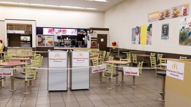 closed mcdonalds