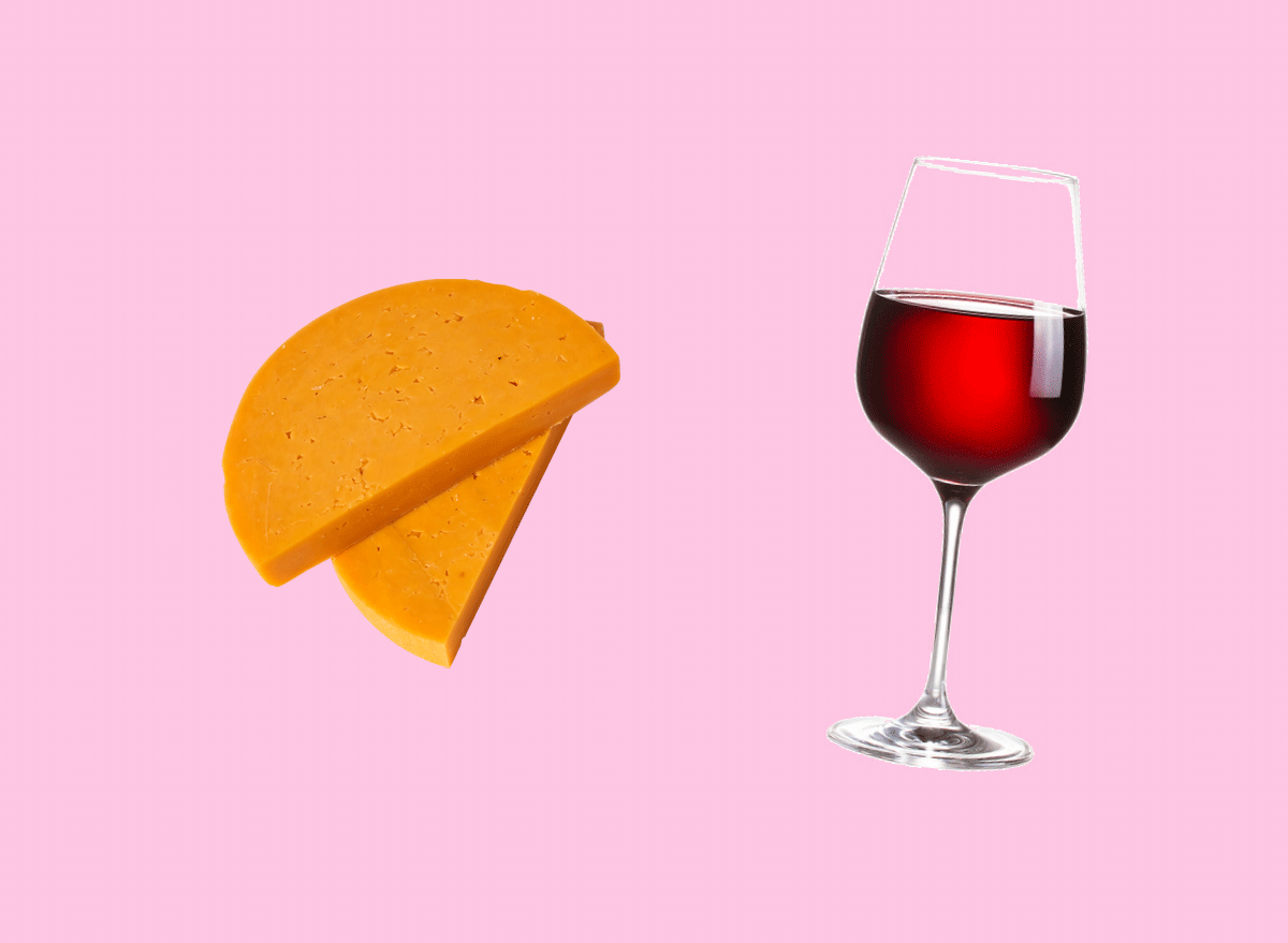 colby cheese with cabarnet sauvignon