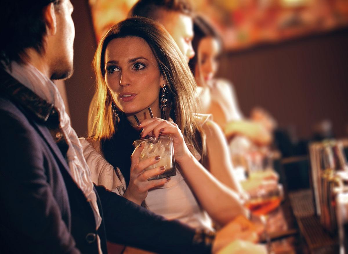 conversation at bar