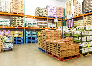 boxes of costco produce