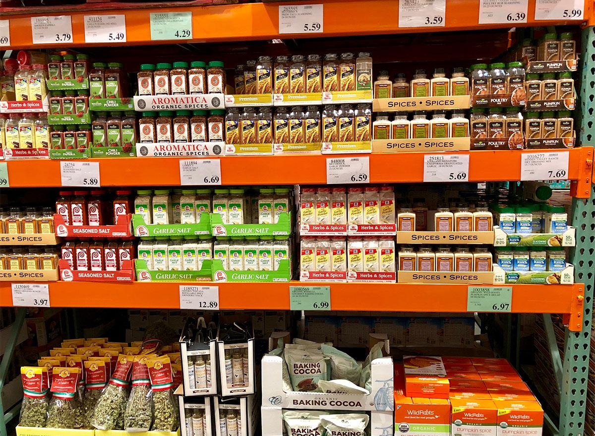 aisle of costco spices