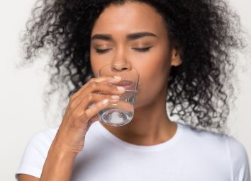 dehydrated woman