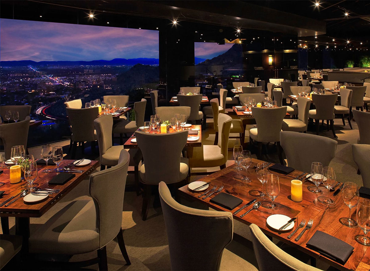 outdoor dining at a different pointe of view in phoenix