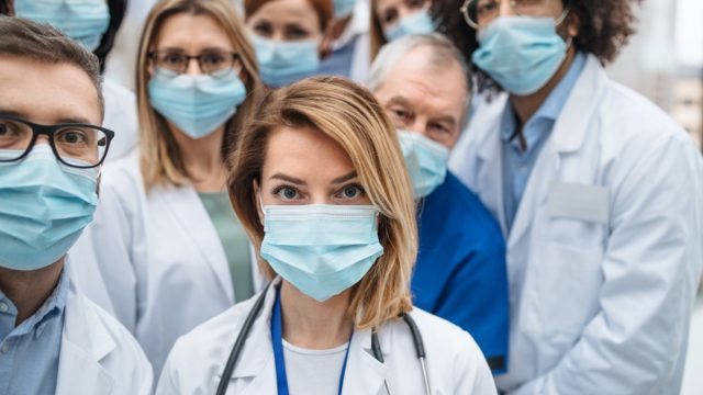 Doctors face mask hospital