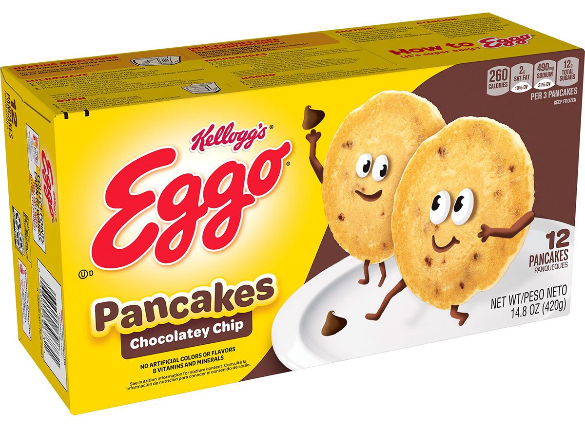 eggo chocolatey chip pancakes